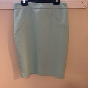 RW&CO teal vegan leather pencil skirt